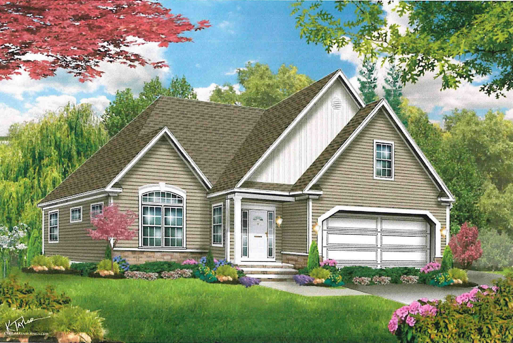 The americana cape is a new model home on long island for Americana homes